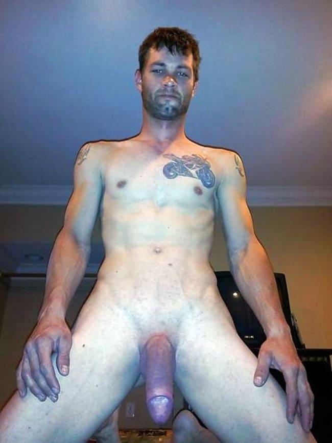 Guy Kneels To Show Dick For The Camra - Nude Men Selfies