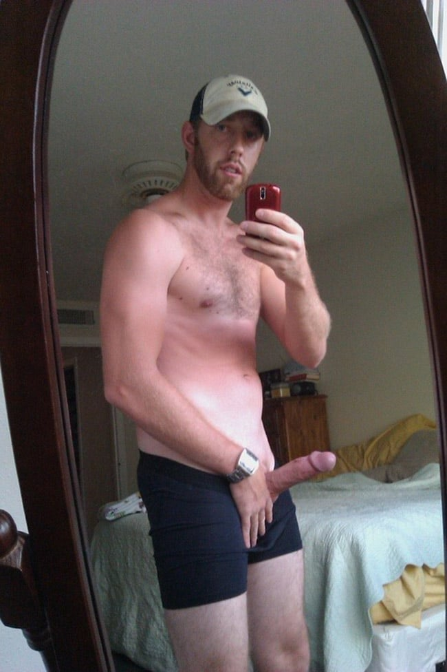 Sexy Dude Holding His Cock And Posing - Nude Men Selfies